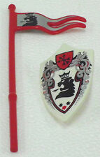 RARE LION KNIGHTS SHIELD + Flag Playmobil to 3699 6000 6006 6001 6039 - 94