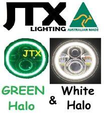 "7"" Headlights GREEN and WHITE Halo Pontiac Formula 455 Oldsmobile"
