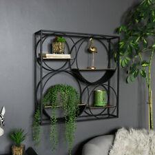 Grande Quadrato Nero Rame Multi Mensola Display Moderno Boho Ornamento Ripiani