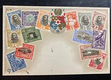 Mint Toga Tonga Islands Stamp On Stamp Postcard