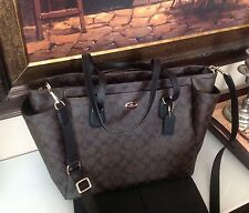 NWT COACH Signature Baby Diaper Bag Multifunction Tote Laptop Bag F35414 $495.00