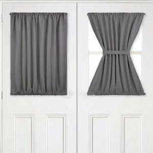 Blackout Rod Pockets Door Window Curtain French Door Side Panel for Privacy