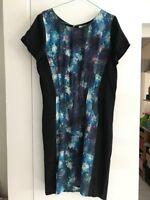 Jag - Women's Silk Dress - Blue/Black - Size 12