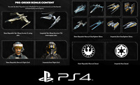 Star Wars Squadrons (PS4) Pre-Order DLC - Rare Skins, Suits, and Decals
