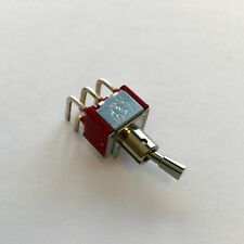 C&K 7201 DPDT, ON-NONE-ON, 5A 120VAC/28VDC Miniature Toggle Switch, 7201P4D9AQE