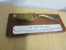 The Awful Taste Silver Spoon Mounted On Wood From Wampole Laboratories
