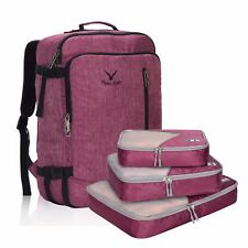 Hynes Eagle 38 L Travel Carry-On Luggage Backpack 3pcs Packing Cubes Organizer