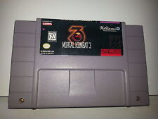SNES MORTAL KOMBAT 3 super nintendo video game CARTRIDGE ONLY fighting