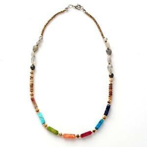 Beautiful Natural Stone 7 Chakra Jasper Stone Beaded Necklace/Bracelet Healing