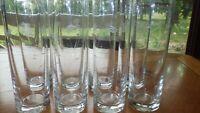 Vintage etched Tom Collins Glasses tumblers Iced tea Lemonade glasses 8 1950's