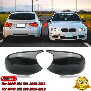 Carbon Fiber Rear View Side Mirror Caps M3 Style For BMW E90 E91 E92 E93Pre-LCI
