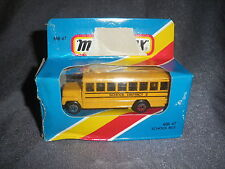271B Vintage Matchbox 1981 MB 47 Bus School Bus School District 2 US 1:76