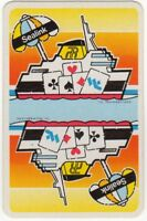 Playing Cards 1 Single Swap Card Vintage Advertising SEALINK Shipping Ferry Ship
