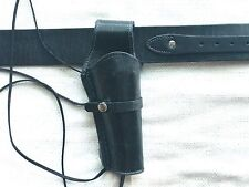 BLACK Leather Holster Belt Smooth Brand New Holster Belt Made in Mexico 70113