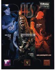 2005 YAMAHA AES620  Electric Guitar TOM CAPONE Chris Poland Vtg Print Ad