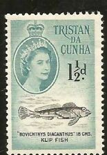 1960 TRISTAN DA CUNCHA 1 1/2 PENNY UNGEBRAUCHT MARKE FISCH FISH