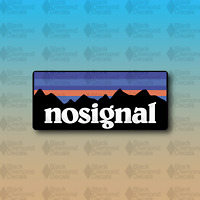 """No Signal Outdoors Mountains Overland Camp Explore Hike 5"""" Vinyl Decal Sticker"""