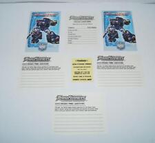 Botcon OTFCC 2003 Convention Paperwork Exclusives G1 Transformers