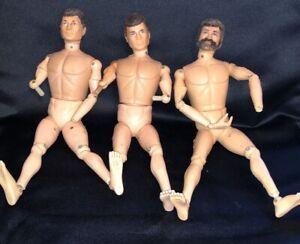 VINTAGE 1964 ORIGINAL HASBRO GI JOE BODY PART LOT: ARMS LEGS FEET HEADS 3 DOLLS