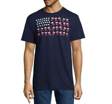 BEER PONG american flag red solo cup college party 4th of July T-Shirt 2XL blue