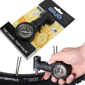 GIYO Bicycle Tyre Pressure Gauge for Presta and Schrader bike valves precision