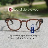 e9e95497a67 Retro Vintage Johnny Depp eyeglass frame light brown RX optical eyeglasses  LARGE