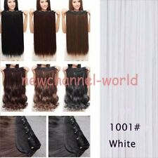 Real Cosplay As Human Hair Extension 17-30 Long Straight Clip In Hair Extensions