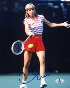 CHRIS EVERT SIGNED AUTOGRAPHED 8x10 PHOTO WIMBLEDON US OPEN CHAMP BECKETT BAS
