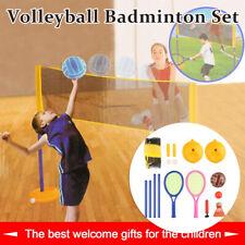 Familie Kinder Volleyball Badminton Set Outdoor Sport Spiel Set  Garten Spiel DE