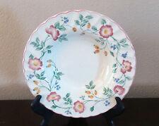 Churchill Fine English Tableware Briar Rose Rim Soup Bowls x1 Pink/Purple Flower