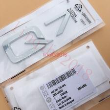 "Chrome Shiny "" Q 7 "" ABS Number Letters Trunk Emblem Badge Sticker for Audi Q7"