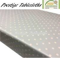 Duck Egg Blue Polka Dot Spots PVC Vinyl Wipe Clean Tablecloth Oilcloth ALL SIZES