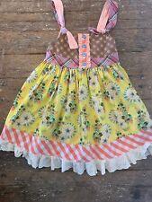 Matilda Jane Knot Dress Floral Ruffle Size 6