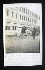 GERMANY 1910-20s PRINCE EITEL FRIEDRICH & WIFE BOARDING TRAIN CAIRO EGYPT