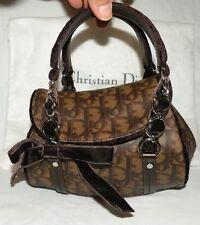 MINT! AUTHENTIC CHRISTIAN DIOR MONOGRAM LOGO TROTTER ROMANTIQUE BROWN BAG $2490