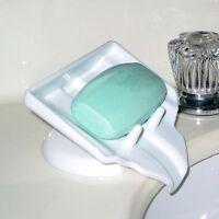 1X Bathroom Kitchen Sponge Holder Sink Caddy Soap Drainer Rack Brush Organizer