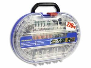Kit 276 accessori mini trapano dremel punte per lucidare levigare in valigetta