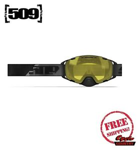 509 AVIATOR 2.0 FUXION FLOW SNOWMOBILE GOGGLE NEW SNOW SKI BOARD BLACK W/ YELLOW
