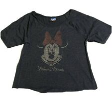 New listing Minnie Mouse Size Xl Distressed Disney Womens Top Scoop Neck Loose Fit Junk Food