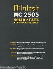Mcintosh MC 2505 Stereo Amplifier BrochureOriginal