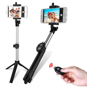 Bluetooth Selfie Stick With Tripod Remote Control Handheld Shutter Mobile Phone