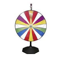Professional Made Color / Dry Erase Display Spin to Win Prize Clicker Wheel