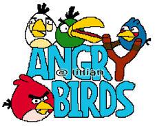 4 ANGRYBIRDS Cross Stitch PATTERN