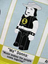 "MADONNA LEGO ACTION FIG MUSIC ""HEY MR DJ""  VH1 AWARDS SEALED PROMO ONLY BOX SET"