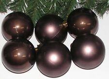 6 x festliche Weihnachts Kugeln 8 cm Chocolate in DisplayBOX Posten Preis 5613
