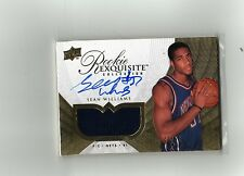 2007-08 UD EXQUISITE GOLD AUTO AUTOGRAPH JERSEY PATCH SEAN WILLIAMS RC #42/51