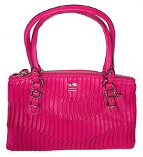 COACH MADISON GATHERED LEATHER SMALL SHOULDER HAND BAG PINK 45928 NWT