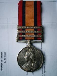 Victorian Boer War QSA medal Corp Garlick Oxfordshire LI from Stoke Row Oxford