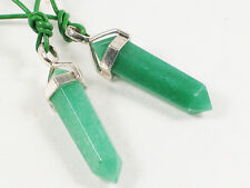 Aventurine Crystal Point pendant  -Healing, Prosperity Leadership