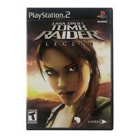 Lara Croft: Tomb Raider Legend (Sony PlayStation 2, 2006) Complete w/Manual CIB